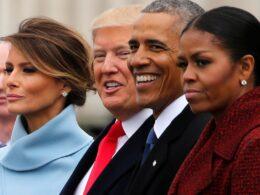 michell obama - melenia trump